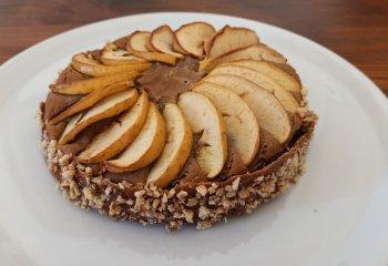 Torta alle mele con grano saraceno ed estratto di liquirizia